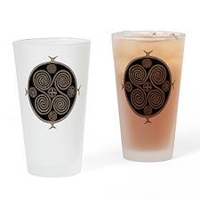 Norse Spiral Design Drinking Glass