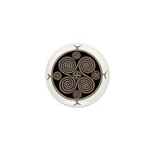 Norse Spiral Design Mini Button