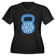 Blue Live Love Lift Women's Plus Size V-Neck Dark