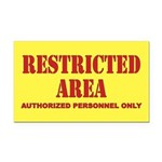 Restricted Area Rectangle Car Magnet