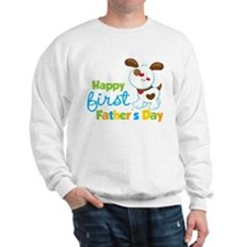 Puppy Dog Happy 1st Fathers Day Sweatshirt
