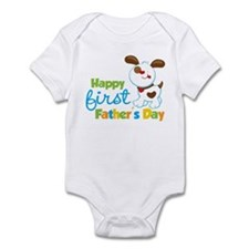Puppy Dog Happy 1st Fathers Day Infant Bodysuit