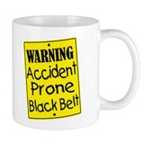 Accident Prone Black Belt Small Mug