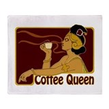 Nouveau Coffee Queen Throw Blanket