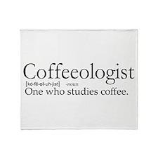 Coffeeologist Throw Blanket