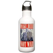 MakeBeerNotWar.PNG Sports Water Bottle