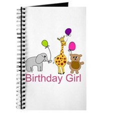 Birthday Girl Zoo Animals Journal