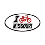 I Love Cycling Missouri Patches