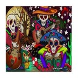 Day of the Dead Music Tile Coaster