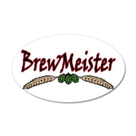 BrewMeister.png 35x21 Oval Wall Decal