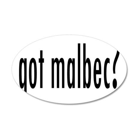 got malbec.png 20x12 Oval Wall Decal