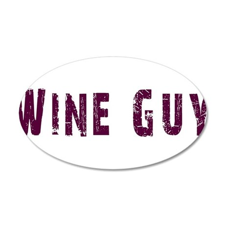 WineGuy.png 20x12 Oval Wall Decal