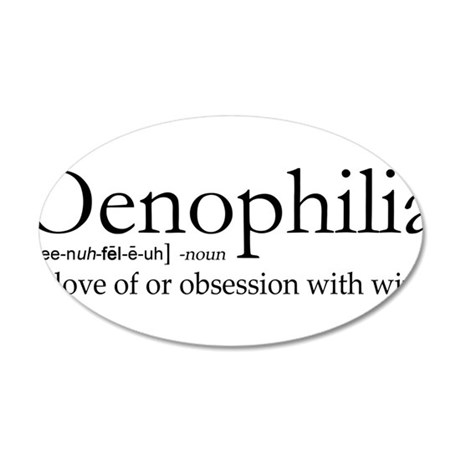 Oenophilia 35x21 Oval Wall Decal