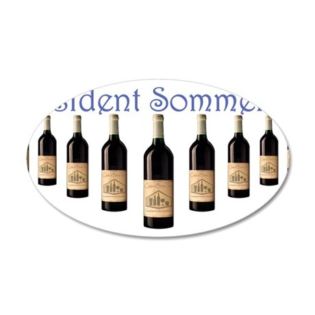 Resident Sommelier 35x21 Oval Wall Decal