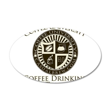 Coffee Drinking Team 35x21 Oval Wall Decal