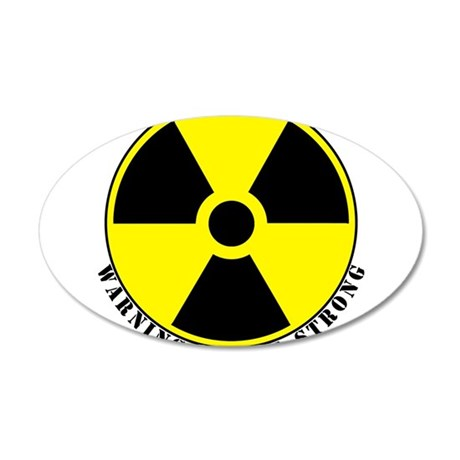 Radiation.png 35x21 Oval Wall Decal