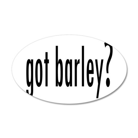 GotBarley.png 20x12 Oval Wall Decal