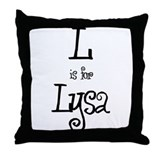 L Is For Lysa Throw Pillow