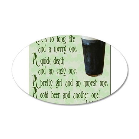 IrishToast.png 20x12 Oval Wall Decal