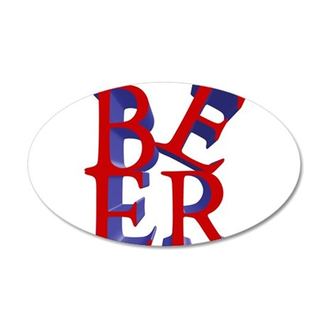BeerLove.png 35x21 Oval Wall Decal
