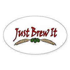 JustBrewIt-White Decal