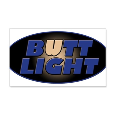 Butt Light 20x12 Wall Decal