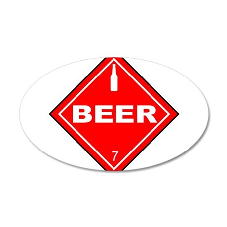 HazMatBeer.png 35x21 Oval Wall Decal