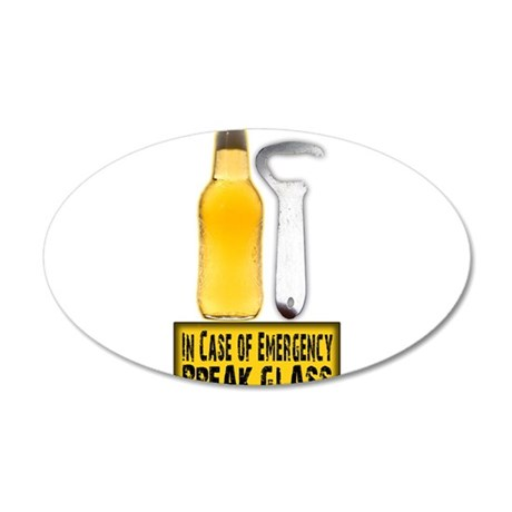 EmergencyBreakGlass.png 20x12 Oval Wall Decal