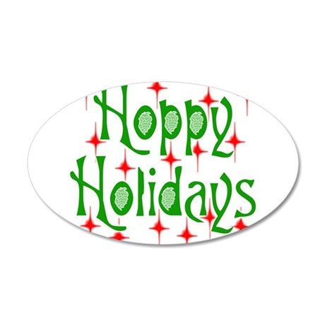 HoppyHolidays.png 20x12 Oval Wall Decal