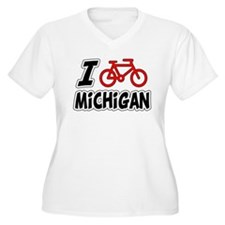 I Love Cycling Michigan T-Shirt