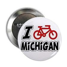 "I Love Cycling Michigan 2.25"" Button"