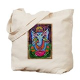 Ganesha Art by Julie Oakes Tote Bag
