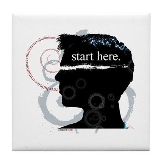 Revolutions Start Here Graphic Tile Coaster