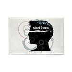 Revolutions Start Here Graphic Rectangle Magnet