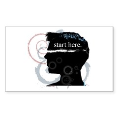 Revolutions Start Here Graphic Sticker (Rectangula