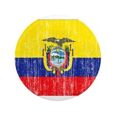 "Ecuador Flag 3.5"" Button (100 pack)"