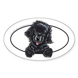 Newfoundland Peeking Bumper Decal