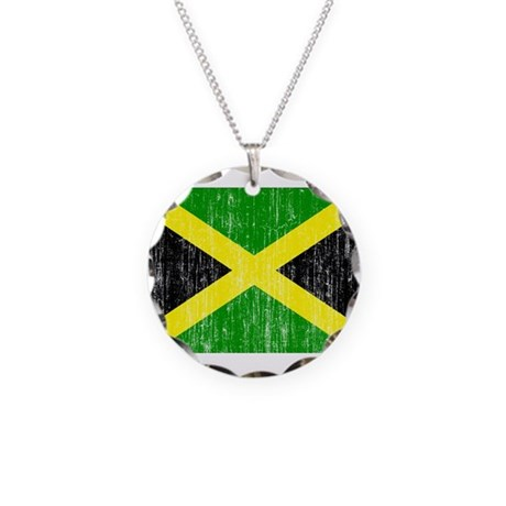 Jamaica Flag Necklace Circle Charm