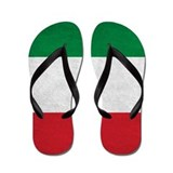 Grunge Italian Flag Flip Flops