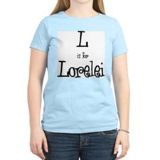L Is For Lorelei Women's Pink T-Shirt