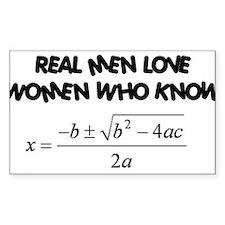 Real Men Decal