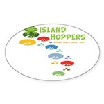 Island Hoppers Sticker (Oval 10 pk)
