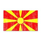 Macedonia Flag Rectangle Car Magnet