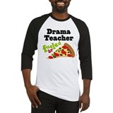 Drama Teacher Funny Pizza Baseball Jersey
