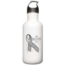 My Brother is a Survivor (grey).png Water Bottle
