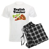 English Teacher Funny Pizza Pajamas