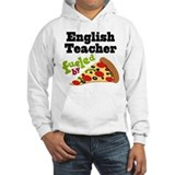 English Teacher Funny Pizza Hoodie