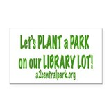 Library Green Rectangle Car Magnet