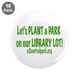 "Library Green 3.5"" Button (10 pack)"
