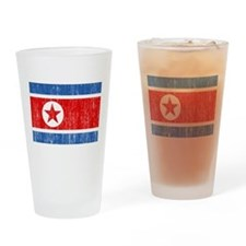 North Korea Flag Drinking Glass